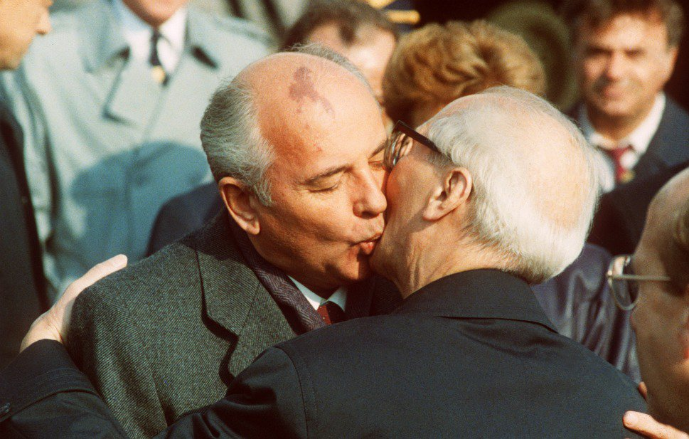 Gorbachev- Honecker-East Germany-1989