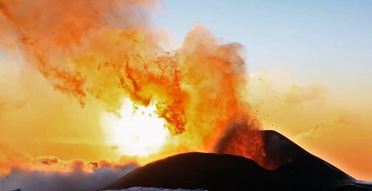 Извержение вулкана Плоский Толбачик